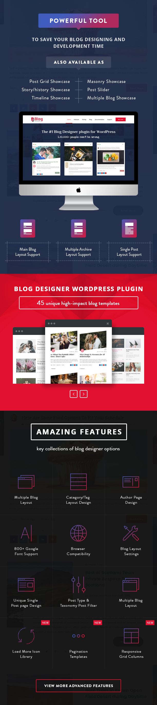 Blog Designer PRO Features