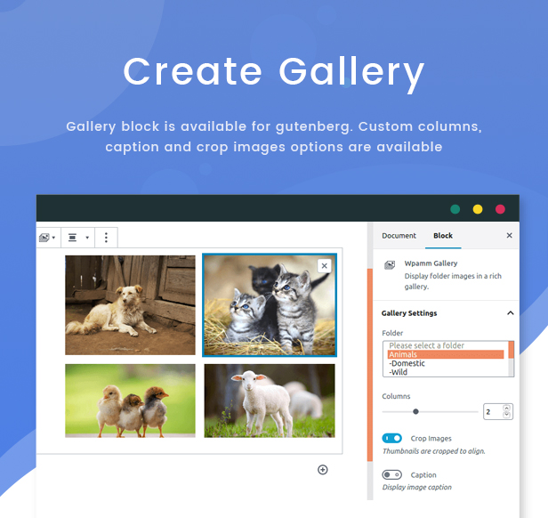 WPFileo Create Gallery