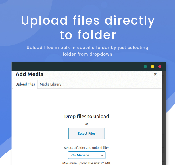 WPFileo Upload Files to Folder