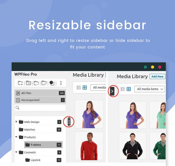WPFileo Resizable Sidebar