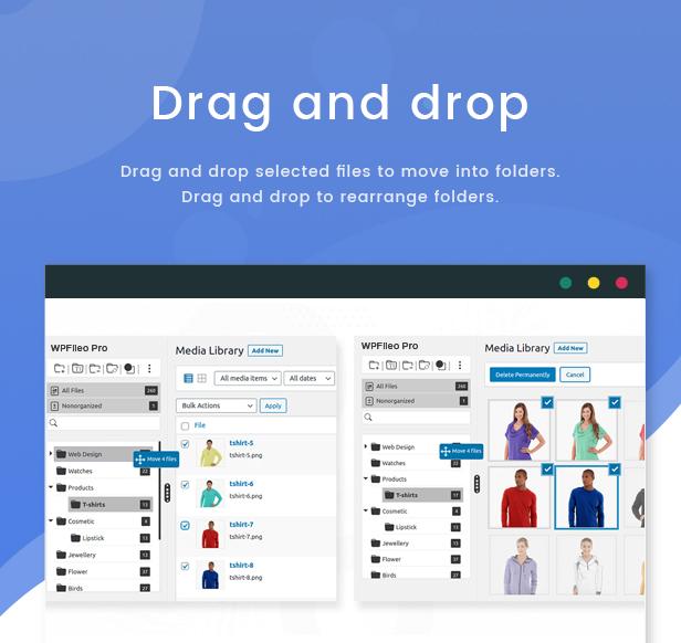 WPFileo Drag and Drop Files & Folder
