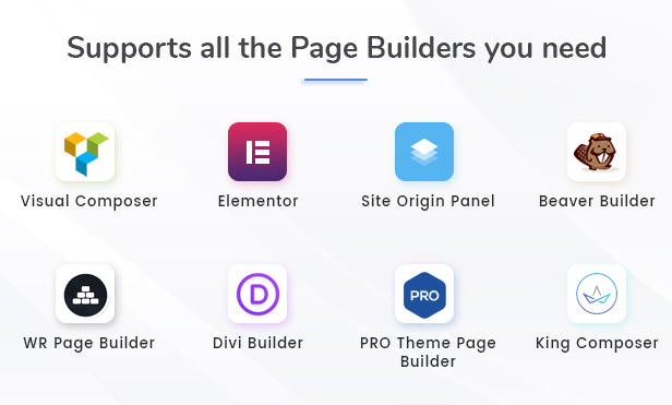 WPFileo Supports All Popular Page builders