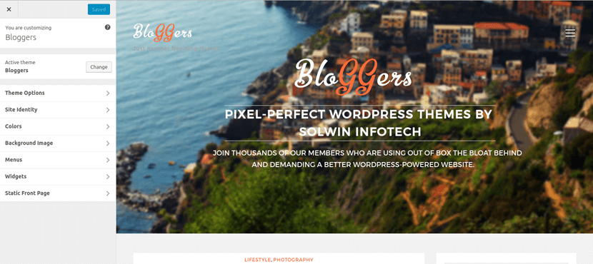Bloggers Free WordPress Theme