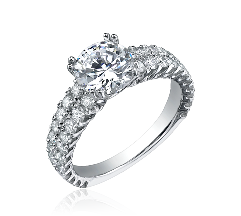 JewelUX - Silver Diamond Ring