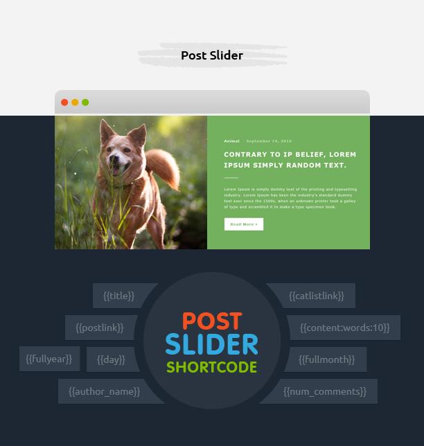 Post Slider with Avartan Slider