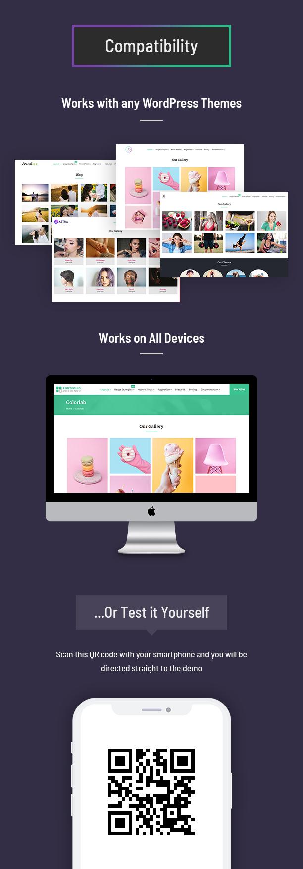 Compatibilidad del dispositivo Portfolio Designer