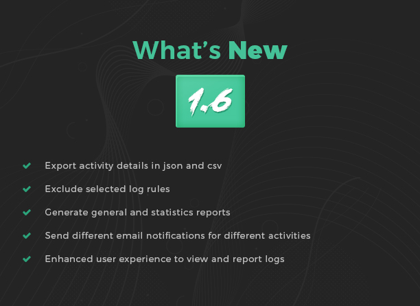 whats new in User Activity Log Pro version 1.4