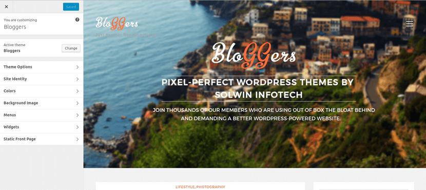 Bloggers Free WordPress Theme