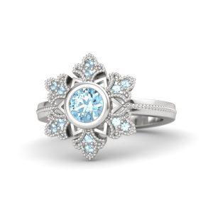 Colorstone Diamond Ring